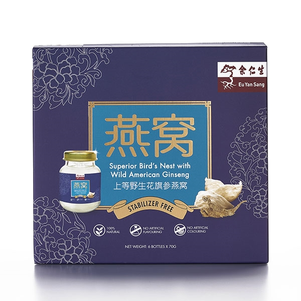 Superior Bird's Nest with Wild American Ginseng 6'S