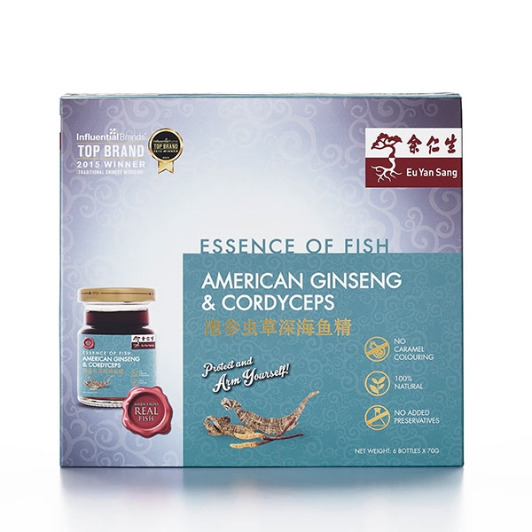 Essence of Fish with American Ginseng & Cordyceps Extract 6's