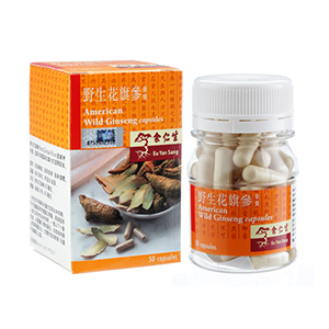 American Wild Ginseng Capsules (野生花旗參膠囊)